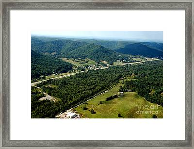 Aerial View Us Route 19  Framed Print by Thomas R Fletcher