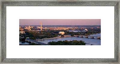 Aerial, Washington Dc, District Of Framed Print