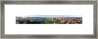 Aerial Washington Dc Usa Framed Print by Panoramic Images