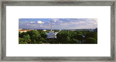 Aerial, White House, Washington Dc Framed Print by Panoramic Images
