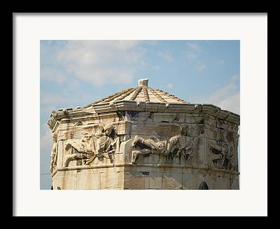 Clustered Around The Northern And Eastern Slopes Of The Acropolis Framed Prints