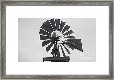 Aermotor Framed Print by Guy  Cannon