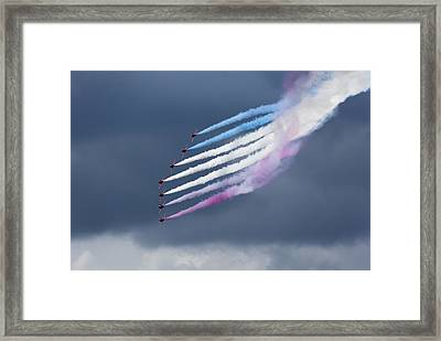 Aerobatic Team Framed Print