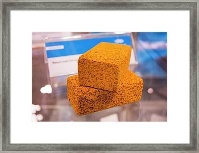 Aerogel Blocks Framed Print by Mark Williamson/science Photo Library