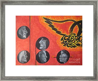 Framed Print featuring the painting Aerosmith Art Painting 40th Anniversary by Jeepee Aero