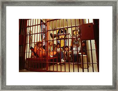Aerosmith - In A Cage 1980s Framed Print by Epic Rights