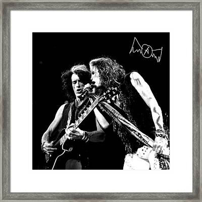Aerosmith - Joe Perry & Steve Tyler Framed Print by Epic Rights