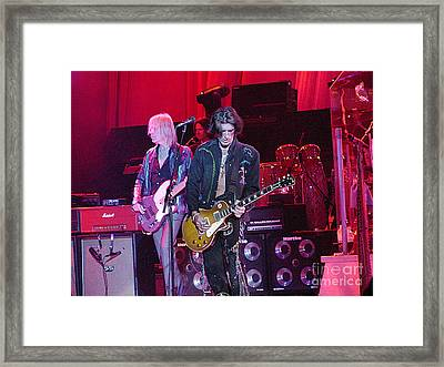 Aerosmith-joe Perry-00019-1 Framed Print by Gary Gingrich Galleries