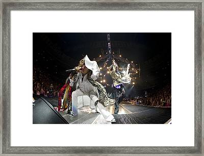 Aerosmith - On Stage 2012 Framed Print by Epic Rights