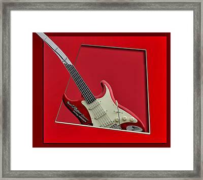 Aerosmith Rockn Roller Guitar Framed Print by Thomas Woolworth