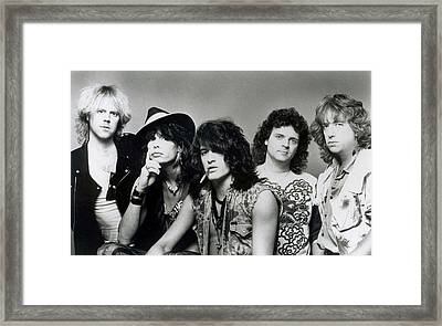 Aerosmith - What It Takes 1980s Framed Print by Epic Rights