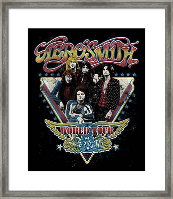 Aerosmith - World Tour 1977 Framed Print by Epic Rights