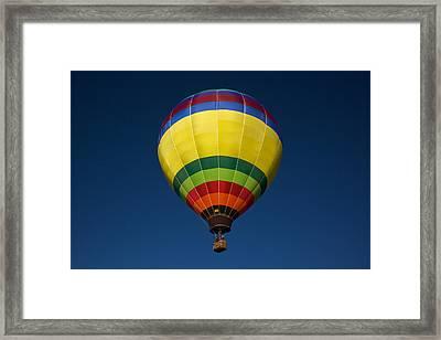 Aerostatic Balloon Framed Print by Genaro Rojas