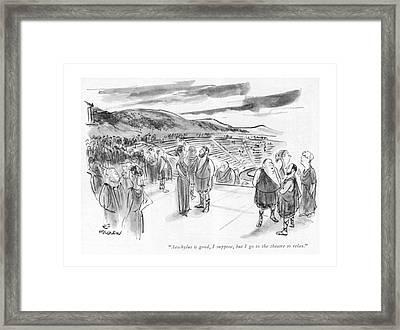 Aeschylus Is Good Framed Print by James Stevenson