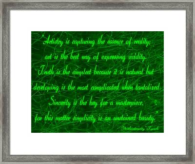 Aesthetic Quote 1 Framed Print