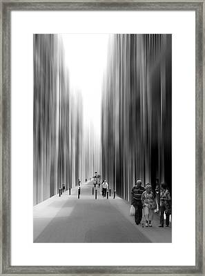 Aethereal Streets Framed Print