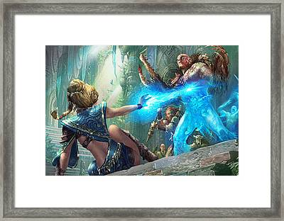 Aetherize Framed Print by Ryan Barger