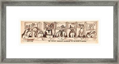 Affairs. The Sweet Prospect Behind Us, Or The Outs Framed Print by Welsh School