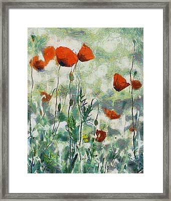 Framed Print featuring the painting Affection by Joe Misrasi