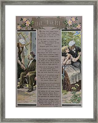 Affection. Man, Men, Woman, Smoking, Food And Drink Framed Print