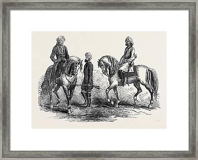 Affghan Native Officer 5th P.c. Left Sikh Trooper 5th P Framed Print