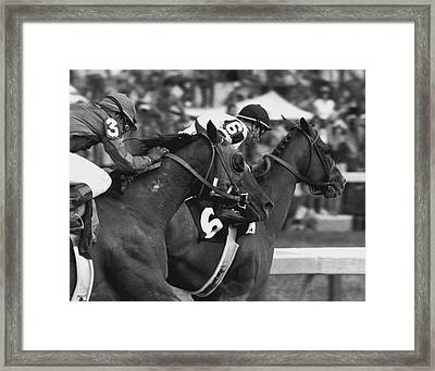 Affirmed Horse Racing Vintage Framed Print