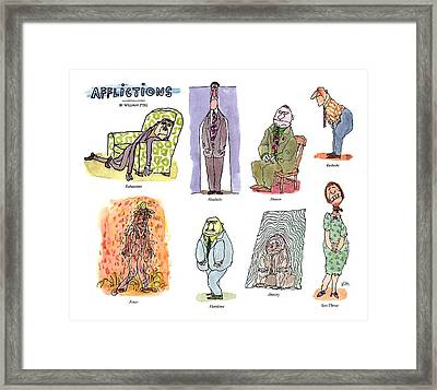 Afflictions Framed Print by William Stei