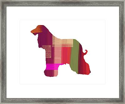 Afghan Hound 2 Framed Print by Naxart Studio