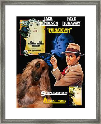 Afghan Hound Art - Chinatown Movie Poster Framed Print by Sandra Sij