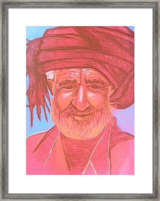 Afghan Man Framed Print