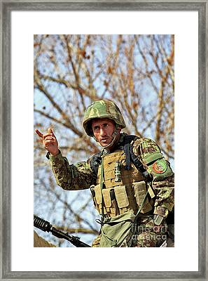Afghan National Army Soldier Framed Print