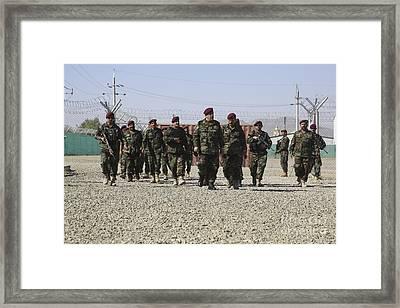 Afghan National Army Soldiers Framed Print