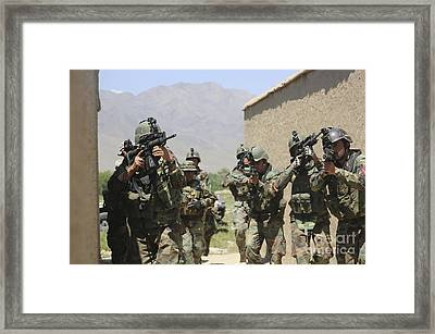 Afghan National Army Special Forces Framed Print