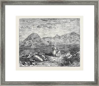 Afghan Sketches The Ahin Posh Tope And Vihara Framed Print by English School