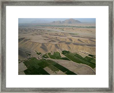 Afghan Village From The Air In Helmand Province Framed Print