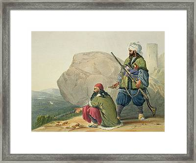 Afghaun Foot Soldiers In Their Winter Framed Print by James Rattray