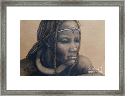 Afican Woman Framed Print by James McAdams