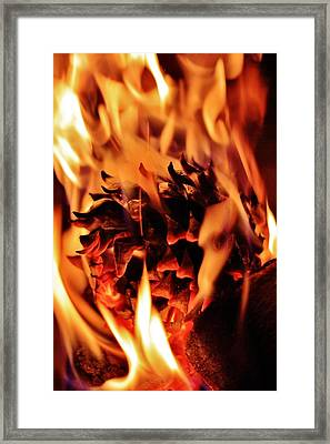 Aflame Framed Print by Benjamin Yeager