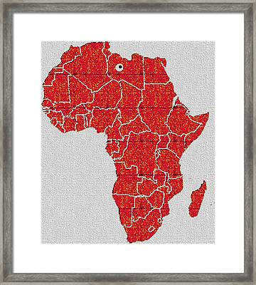 Framed Print featuring the digital art Africa Calling by Giuseppe Epifani