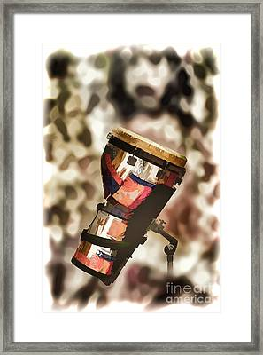 Africa Culture Drum Djembe Painting In Color 3237.02 Framed Print