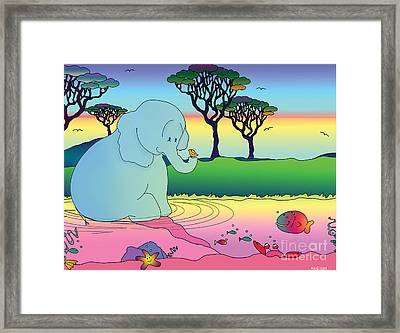 Nacooma And Friends Created By Kidslolll Framed Print
