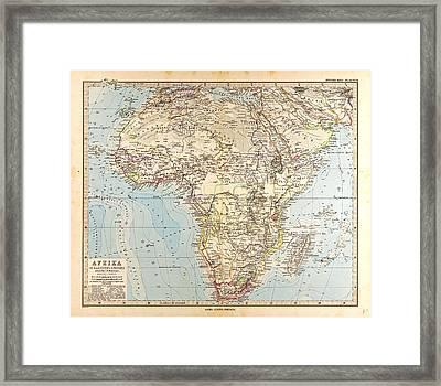 Africa  Map Gotha Justus Perthes 1872 Atlas Framed Print