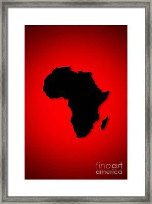 Framed Print featuring the digital art Africa  by Mohamed Elkhamisy
