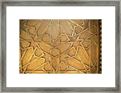 Africa, Morocco, Fes, Fes Medina, Brass Framed Print