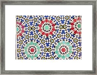 Africa, Morocco, Fes, Fes Medina, Tiles Framed Print
