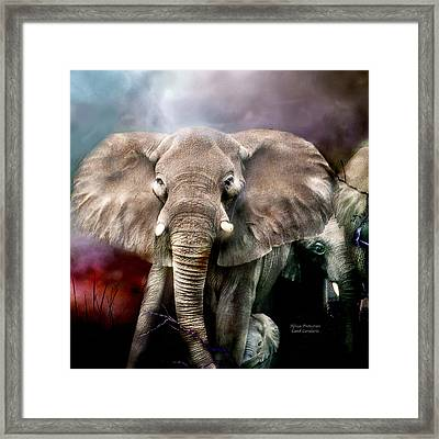 Africa - Protection Framed Print by Carol Cavalaris
