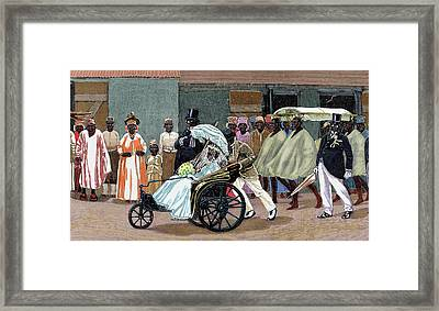 Africa Sierra Leone Bride Of The High Framed Print by Prisma Archivo