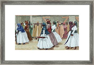 Africa Sierra Leone Funeral Procession Framed Print by Prisma Archivo