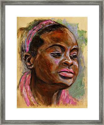 African American 3 Framed Print by Xueling Zou