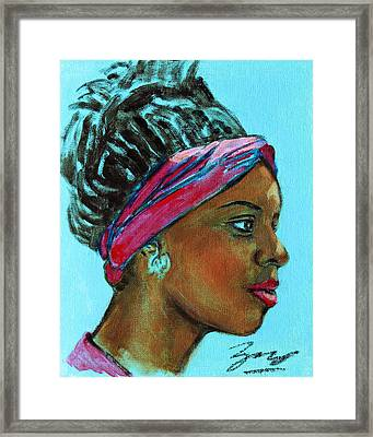 African American 5 Framed Print by Xueling Zou